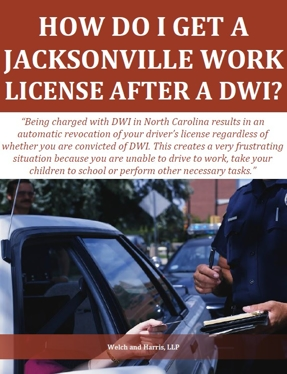 How do I get a Jacksonville work license after a DWI